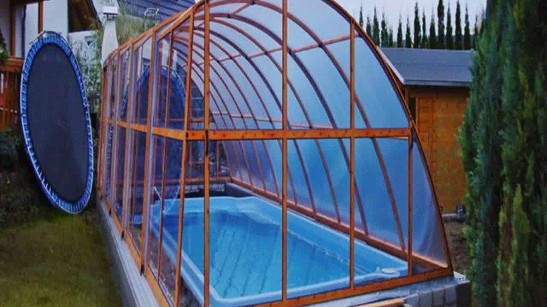 Pool Überdachung Eigenbau  Youtube von Poolüberdachung Selber Bauen Rundpool Bild