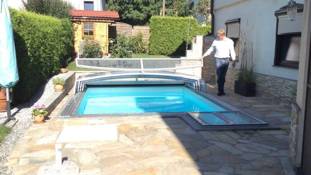 Pool Überdachung Für Kleinen Garten  Youtube von Kleiner Pool Im Garten Selber Bauen Bild