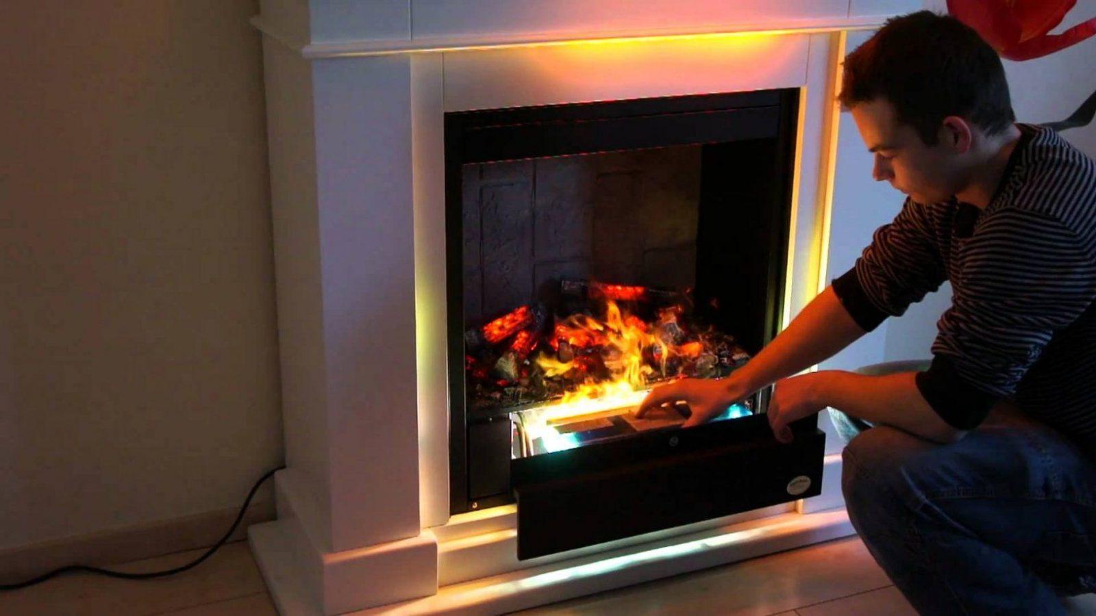 Premium P10 Elektrokamin Teil 1 Funktion Wasserdampf Feuer Rf10 von Elektrokamine Mit Wasserdampf Feuer Bild