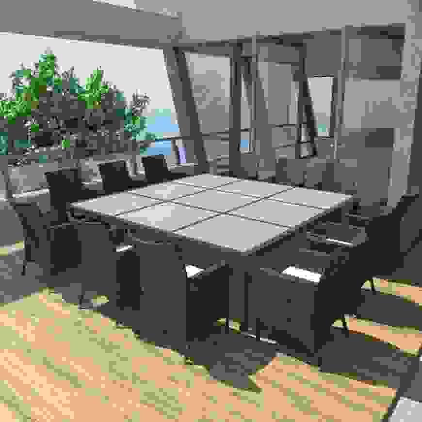Premium Xxl Gartentisch Schwarz Ausziehtisch 135 270 Cm Einzigartig von Gartentisch Für 12 Personen Bild