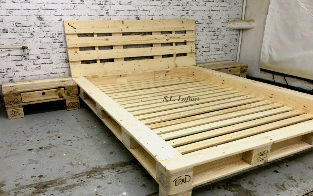 Europaletten Bett Bauen 140x200 Haus Design Ideen