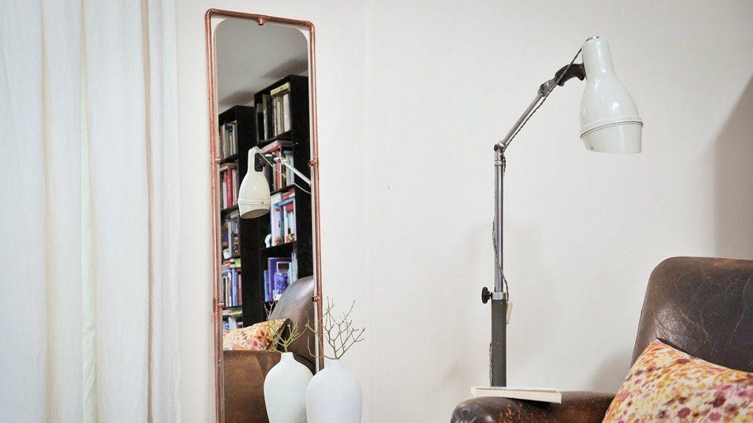 Project Tutorial Spiegel Aus Kupferrohren Selbst Bauen Diyidee von Spiegel Selber Machen Spiegelfolie Photo
