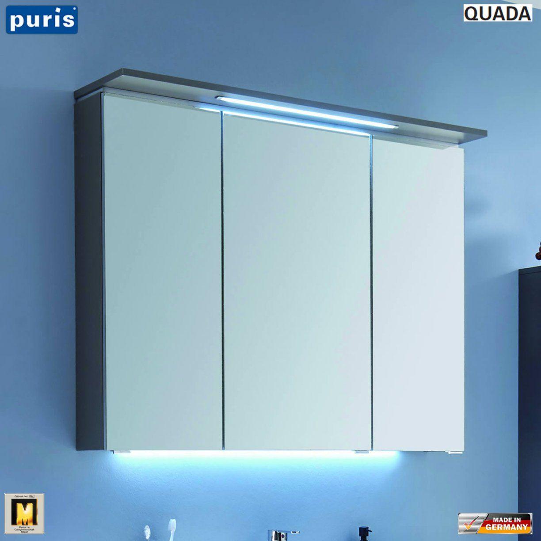 Puris Quada Spiegelschrank 100 Cm Mit Led Im Oberboden  Serie B von Bad Spiegelschrank 100 Cm Breit Bild