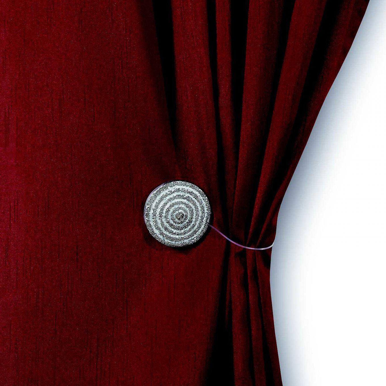 Raffhalter Mit Magnet  Silber Antik  Rund  Raffhalter  Gardinen von Gardinen Raffen Mit Magneten Bild