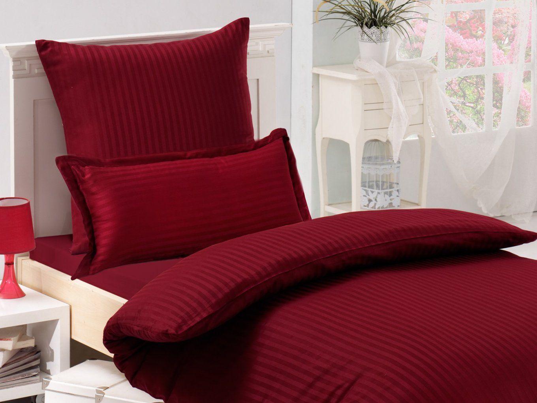 Raffiniert Mako Satin Bettwäsche Rot  Bettwäsche Ideen von Rote Satin Bettwäsche Bild