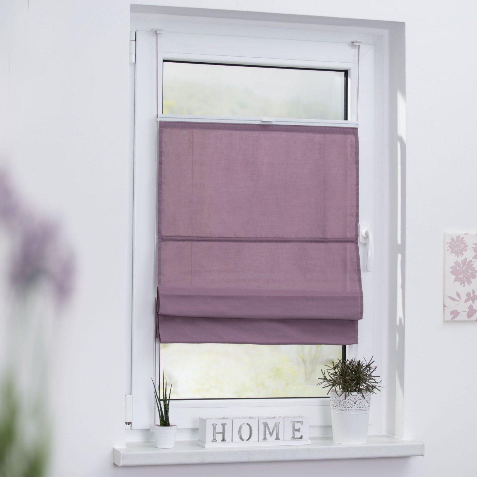 Raffrollo Klemmfix Top Ohne Bohren Verspannt In Pastell von Gardinenbefestigung Am Fenster Ohne Bohren Bild