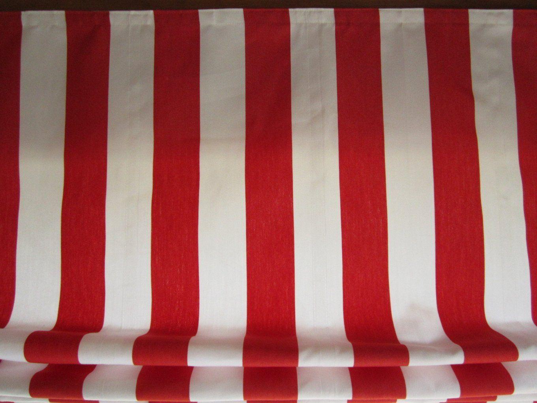 Raffrollo Rot Weiß Gestreift  Icnib von Gardinen Rot Weiß Gestreift Bild