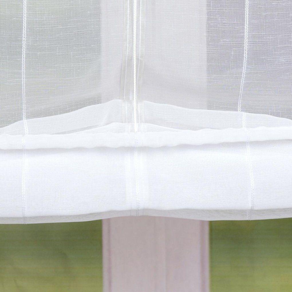 Raffrollo Streifen Rollo Schlaufen Weia Transparent Mit 80X140Cm von Raffrollo Weiß Mit Schlaufen Bild