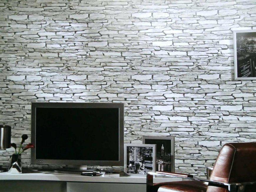Rasch Steintapete  Sch Nes Wohnzimmer Mit Ebenfalls von Stein Tapete Wohnzimmer 3D Photo