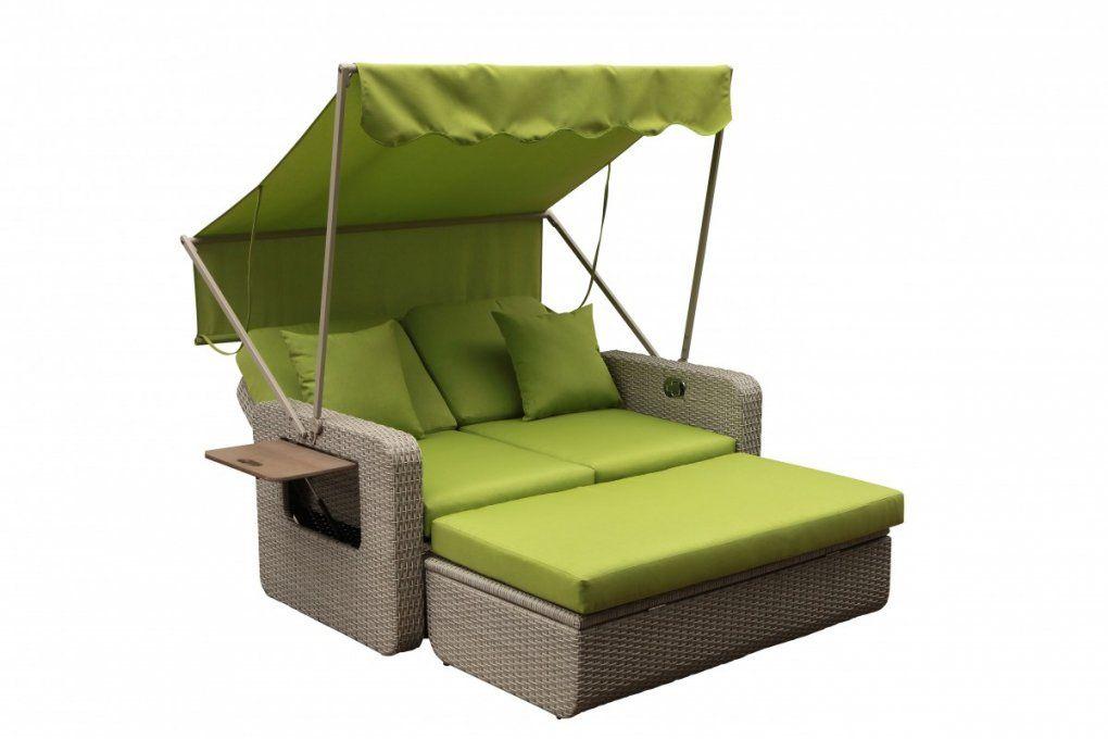 Rattan Doppelliege Mit Sonnendach Baidani Rattan Garten Lounge von Rattan Doppelliege Mit Sonnendach Bild
