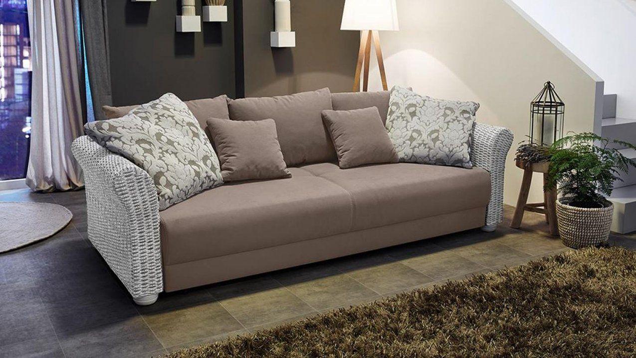 Rattan Sofa Mit Bettfunktion  Sofa von Rattan Couch Mit Schlaffunktion Photo