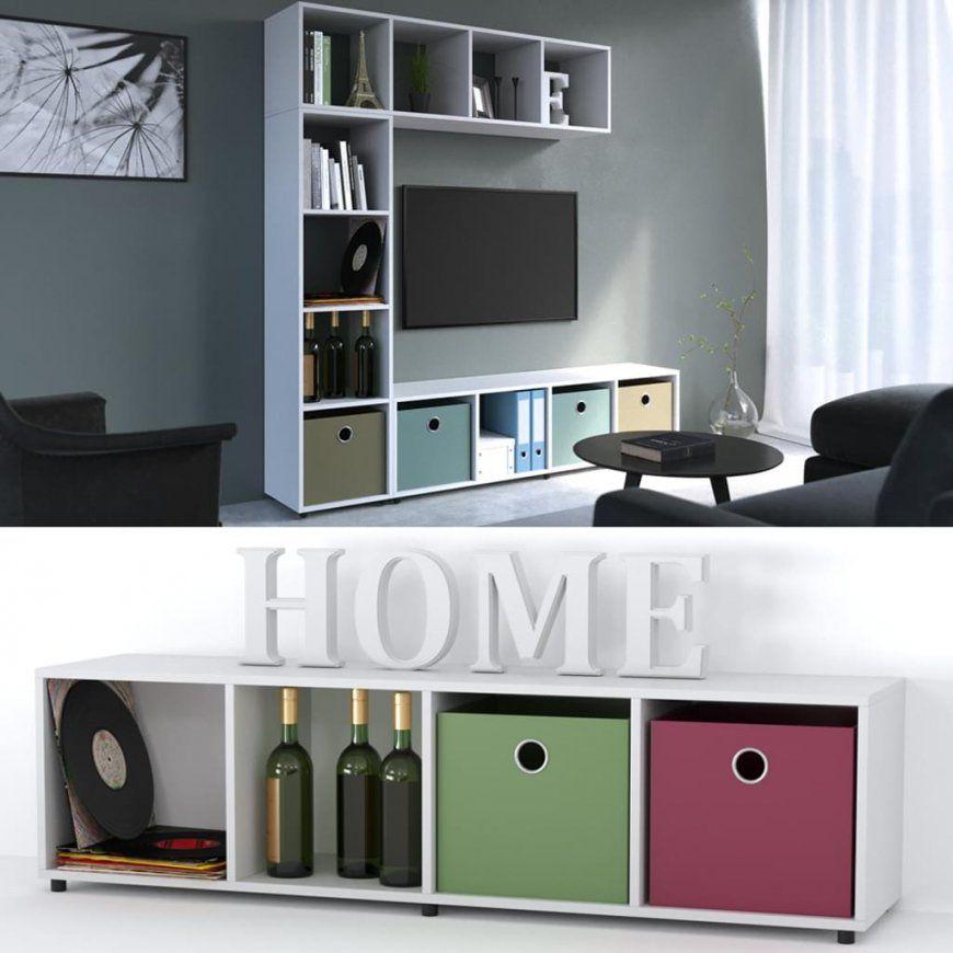 Raumteiler 4 Fächer Weiß 140 X 36 Cm  Standregal  Real von Raumteiler Mit Tv Fach Photo