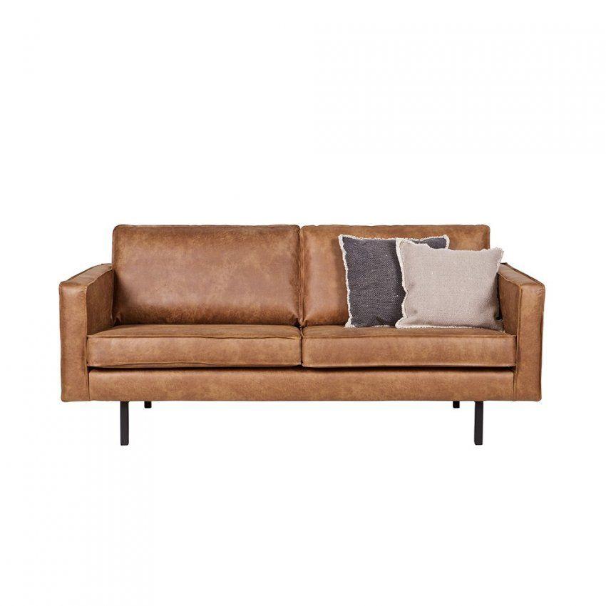 Recycling Leder Sofa Ulada In Braun  Pharao24 von Ledersofa 2 Sitzer Braun Bild