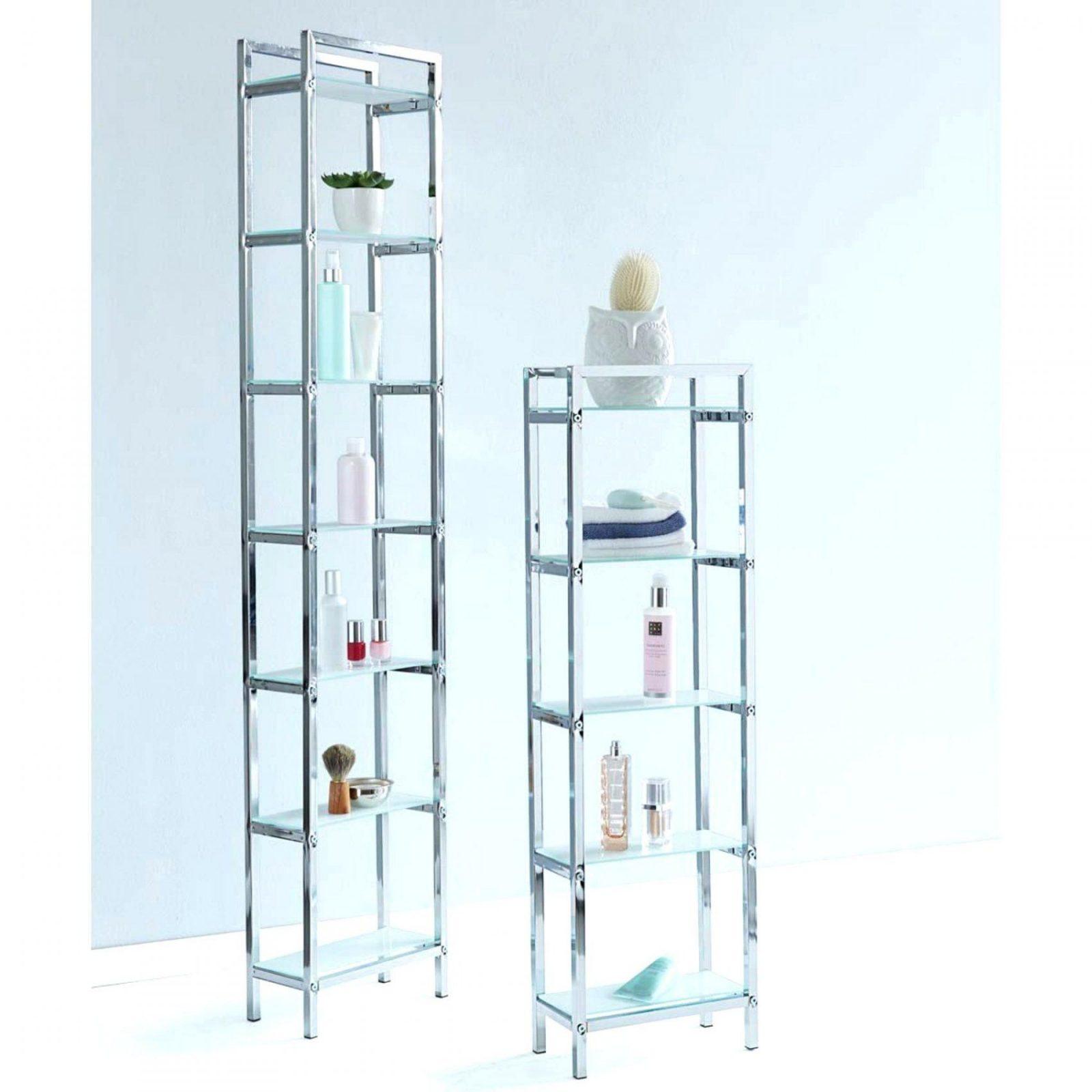 Regal Chrom Badezimmer  Unglaublich Ikea Metall Glas von Ikea Regal Metall Glas Photo