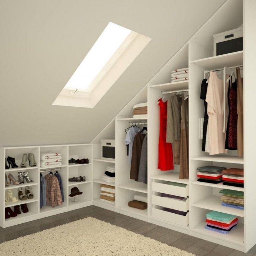 Regal In Dachschräge Selber Bauen Schön Begehbarer Kleiderschrank von Ideen Begehbarer Kleiderschrank Dachschräge Bild