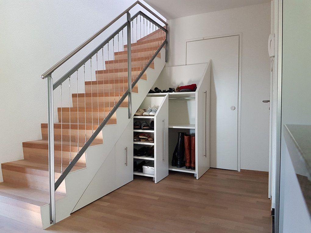Regal Unter Treppe  Hausidee Bucherregal Unter Der Treppe Design Idee von Regal Für Unter Die Treppe Bild