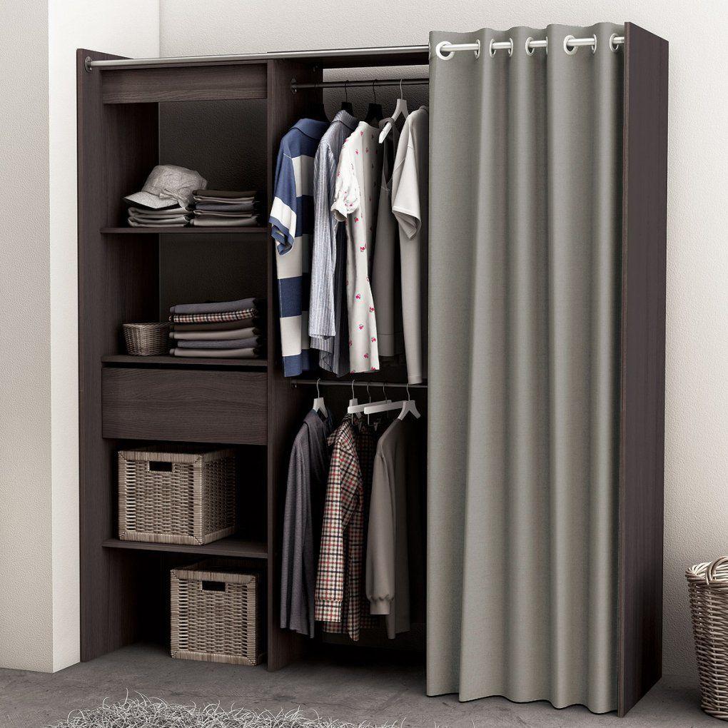 Regalsystem Kleiderschrank Mit Vorhang  Saigonford von Offener Kleiderschrank Mit Vorhang Photo