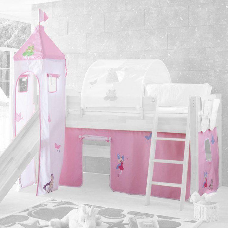 Relita Stoffset Für Hochbetten Mit Turm Princess  Babymarkt von Relita Hochbett Mit Rutsche Bild