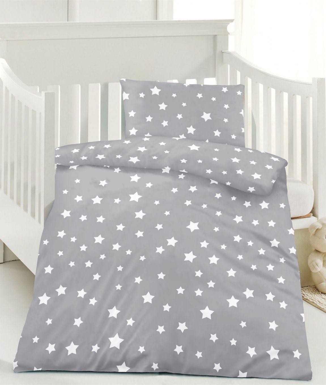 Renforce Kinder Bettwäsche 100X135 Sterne 100% Baumwolle Mit von Bettwäsche 100X135 Sterne Photo