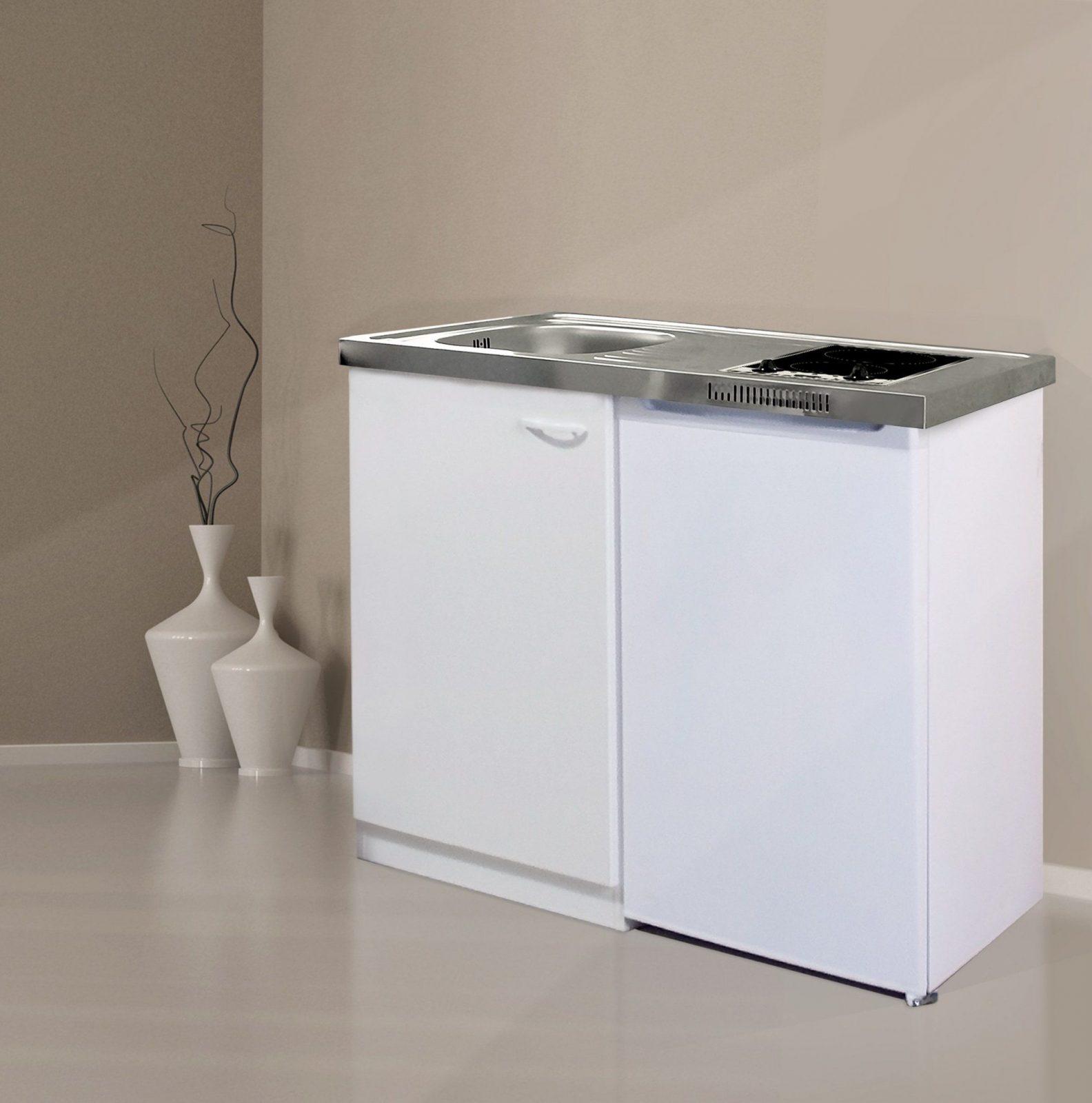 Respekta Miniküche Pantry Single Küche Ceran 100 Cm Weiss von Pantryküche Mit Kühlschrank 120 Photo