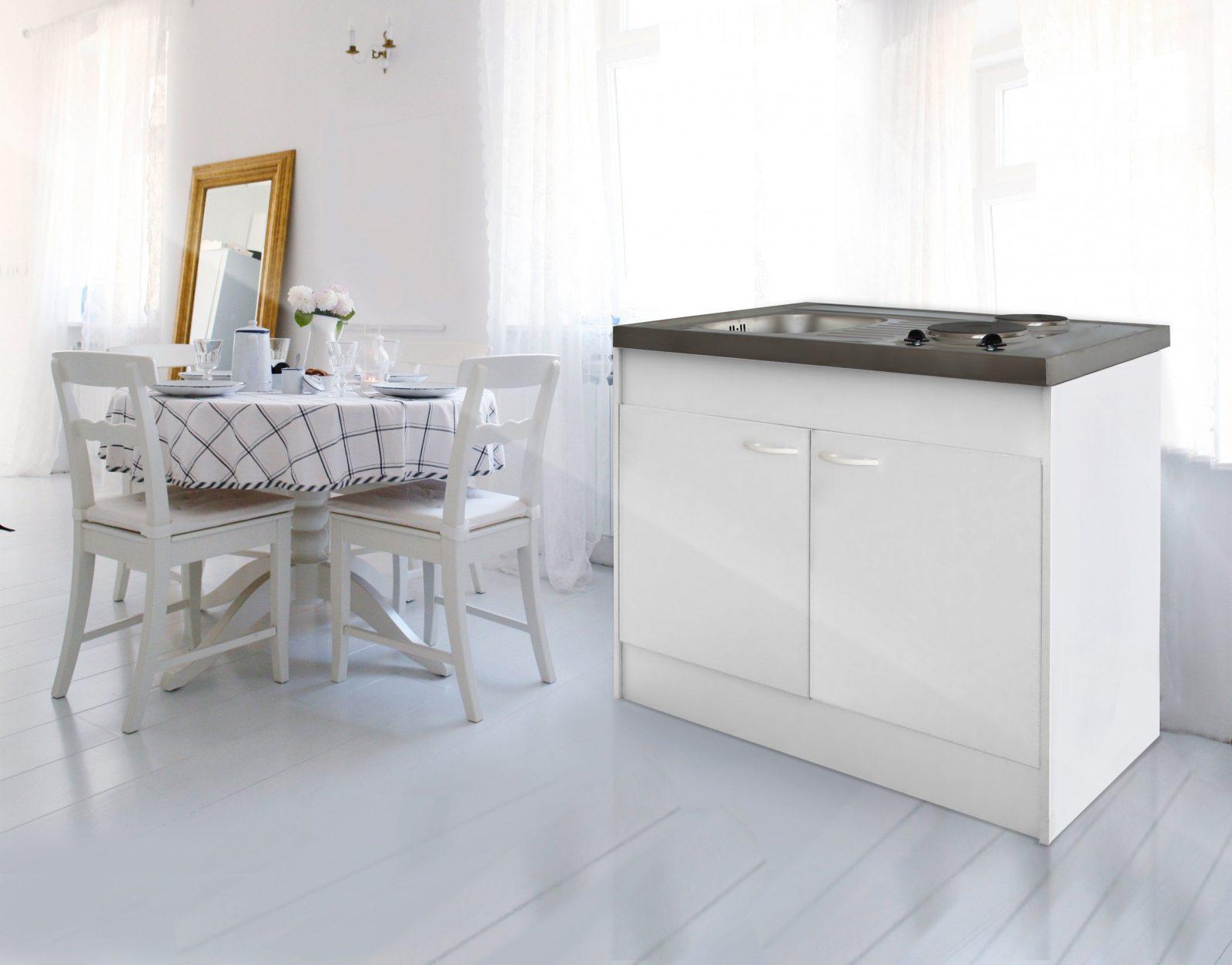 Respekta Miniküche Single Pantry Küche Küchenblock 100 Cm Weiss Ohne von Pantryküche 100 Cm Mit Kühlschrank Bild