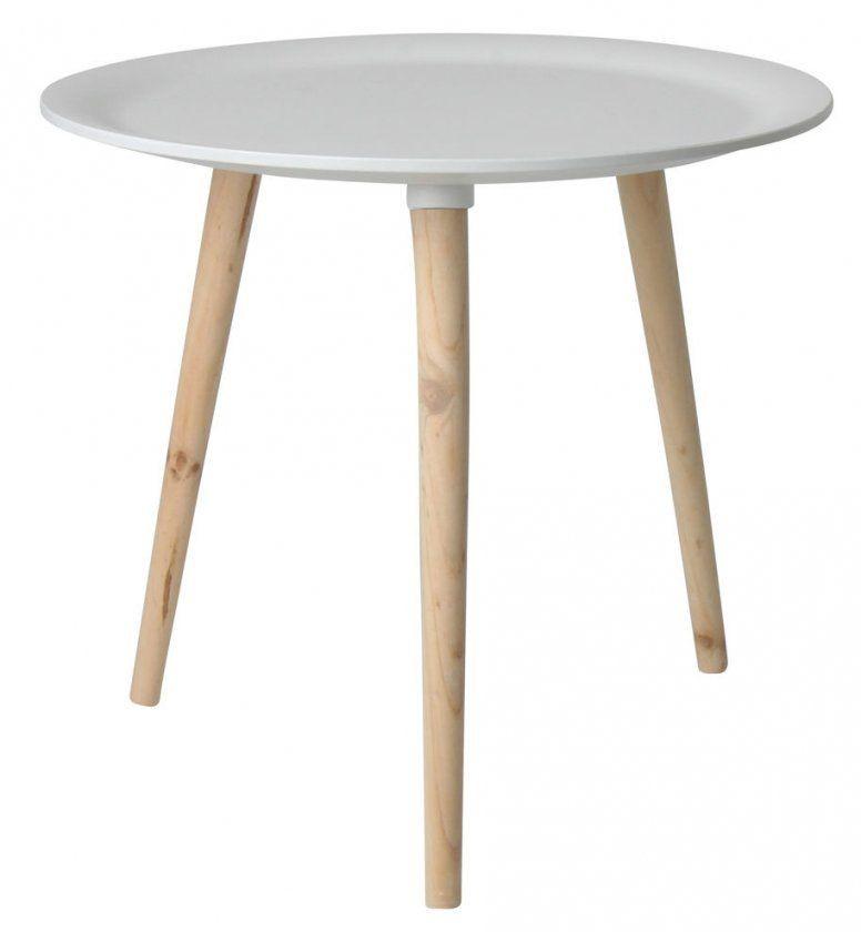 Retro Beistelltisch Rund  4 Größen  Holz Tisch Couchtisch von Couchtisch Retro Rund Bild