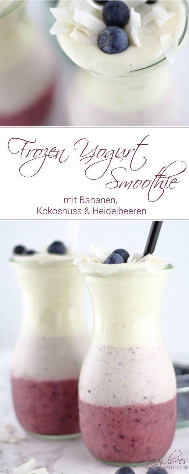 Rezept Für Den Sommer  Frozen Yogurt Smoothie Mit Bananen Und von Frozen Joghurt Selber Machen Thermomix Bild
