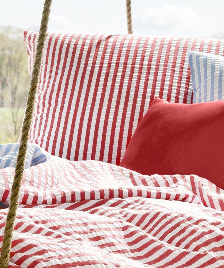 Rio Seersucker 4433424 Rotweiß Von Fleuresse 155X220  155X220 von Bettwäsche Rot Weiß Gestreift Photo
