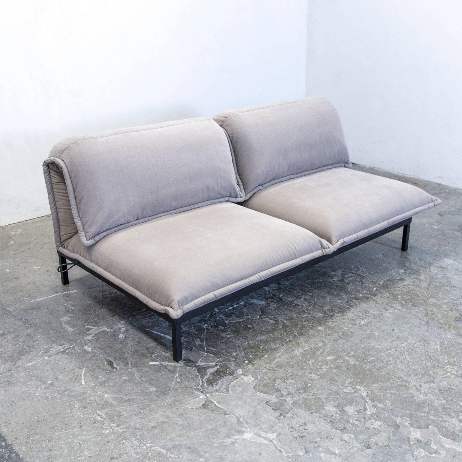 Rolf Benz Nova Designer Sofa Grey Fabric Twoseat Function Couch von Rolf Benz Sofa Nova Photo
