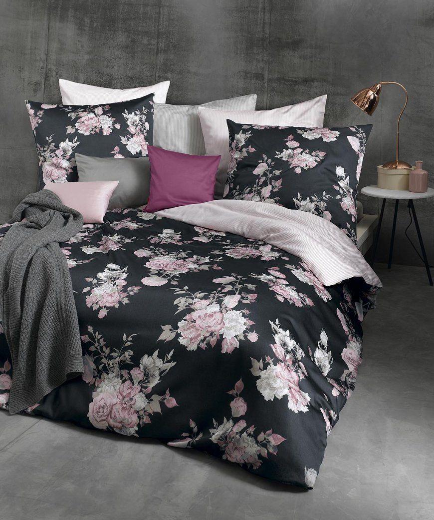 Romantische Blumen Wendebettwäsche Mit Rosen Von Fleuresse In von Bettwäsche 200X200 Schwarz Weiß Photo