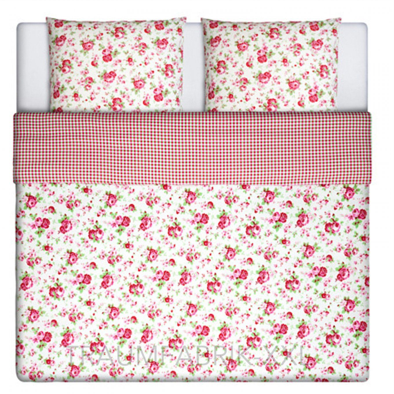 Rosa Und Weisse Bettwaesche Set  Dibinekadar Decoration von Karierte Bettwäsche Ikea Photo