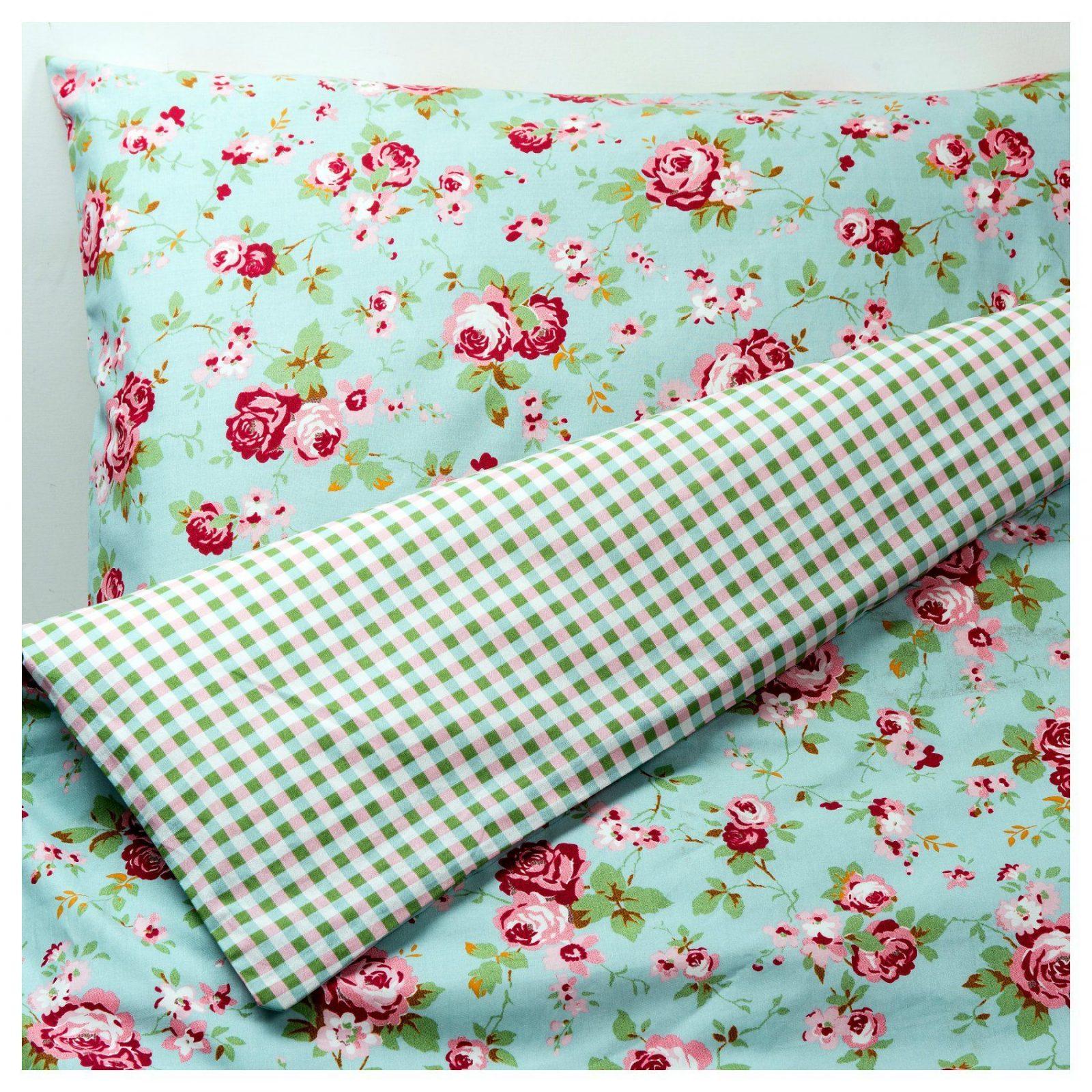 Rosali Bettwäscheset 2Teilig  140X20080X80 Cm  Ikea von Ikea Blumen Bettwäsche Bild