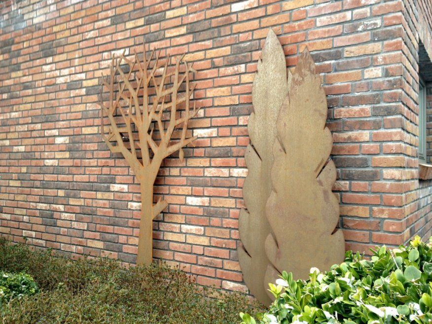 Rost & Cortenstahl › Zinsser Gartengestaltung Schwimmteiche Und von Sichtschutz Garten Metall Rost Photo