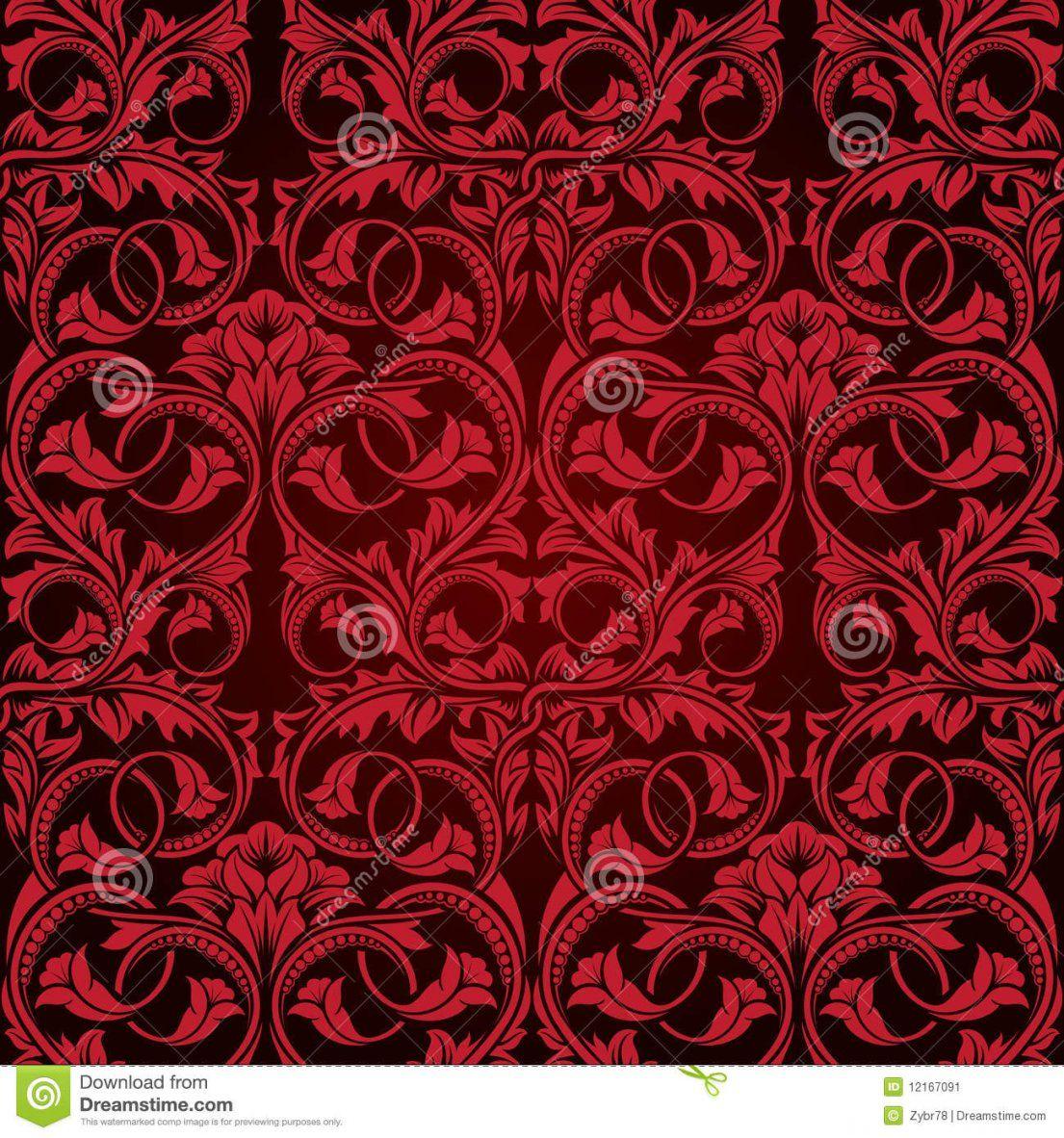 Rote Nahtlose Tapete Vektor Abbildung Illustration Von Dekorativ von Rote Tapete Mit Muster Bild