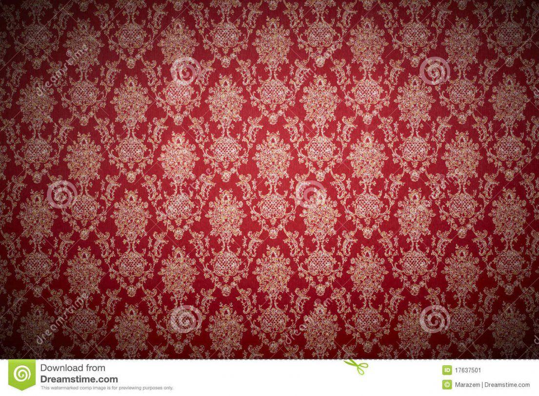 Rote Tapete Stockbild Bild Von Hintergrund Antike Decorate  17637501 von Rote Tapete Mit Muster Photo