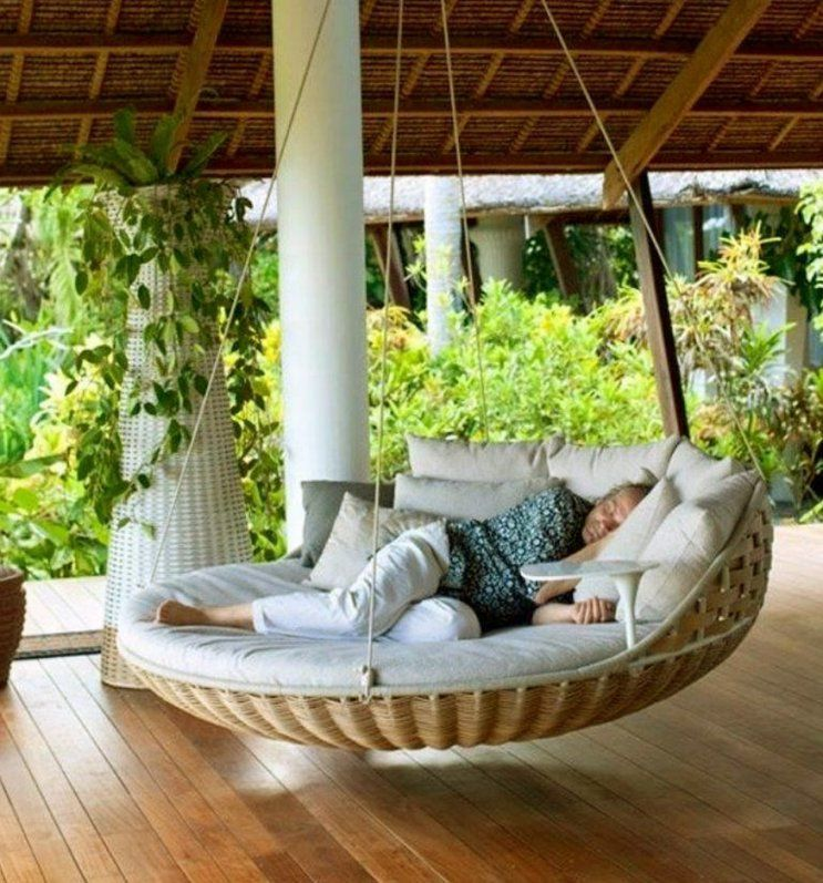 Round Swing Bed For Cozy Relaxation  Chocoaddicts von Round Porch Swing Bed Photo