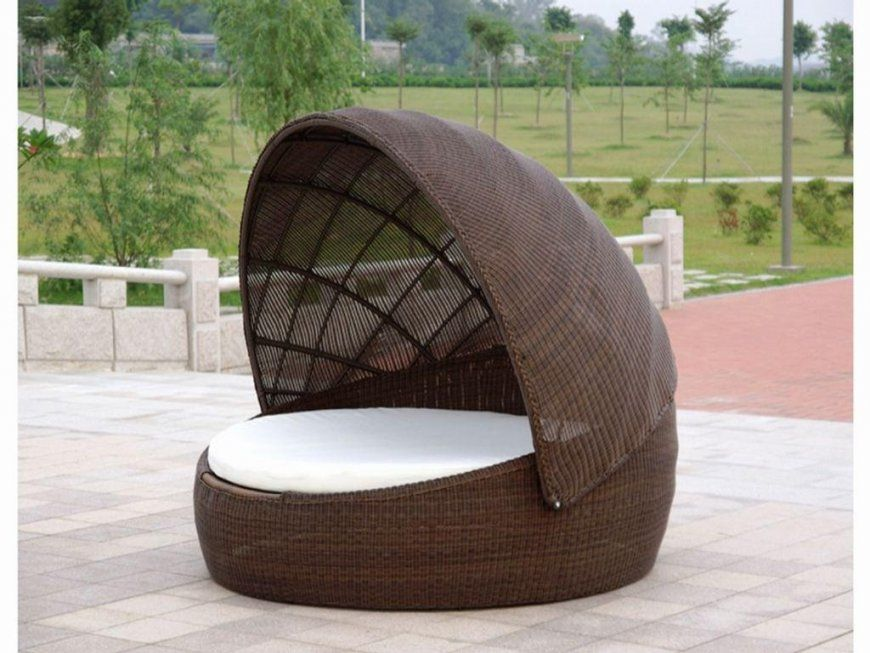 Round Wicker Porch Swing Bed von Round Porch Swing Bed Bild