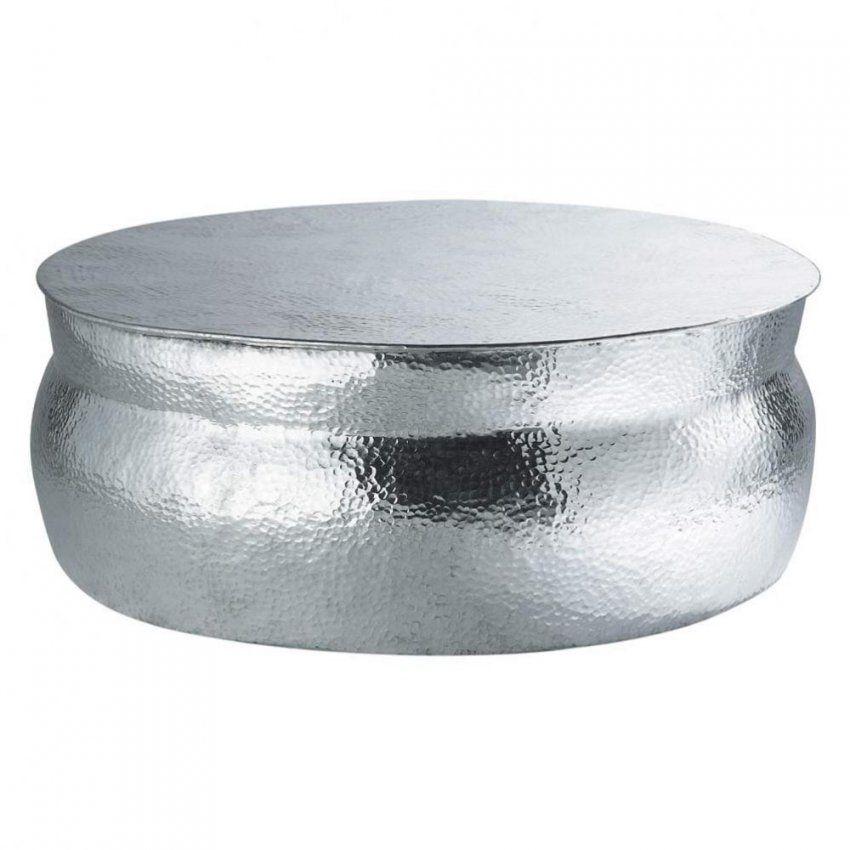 Runde Couchtisch Aus Gehämmertem Aluminium  Maisons Du Monde von Couchtisch Aluminium Rund Bild