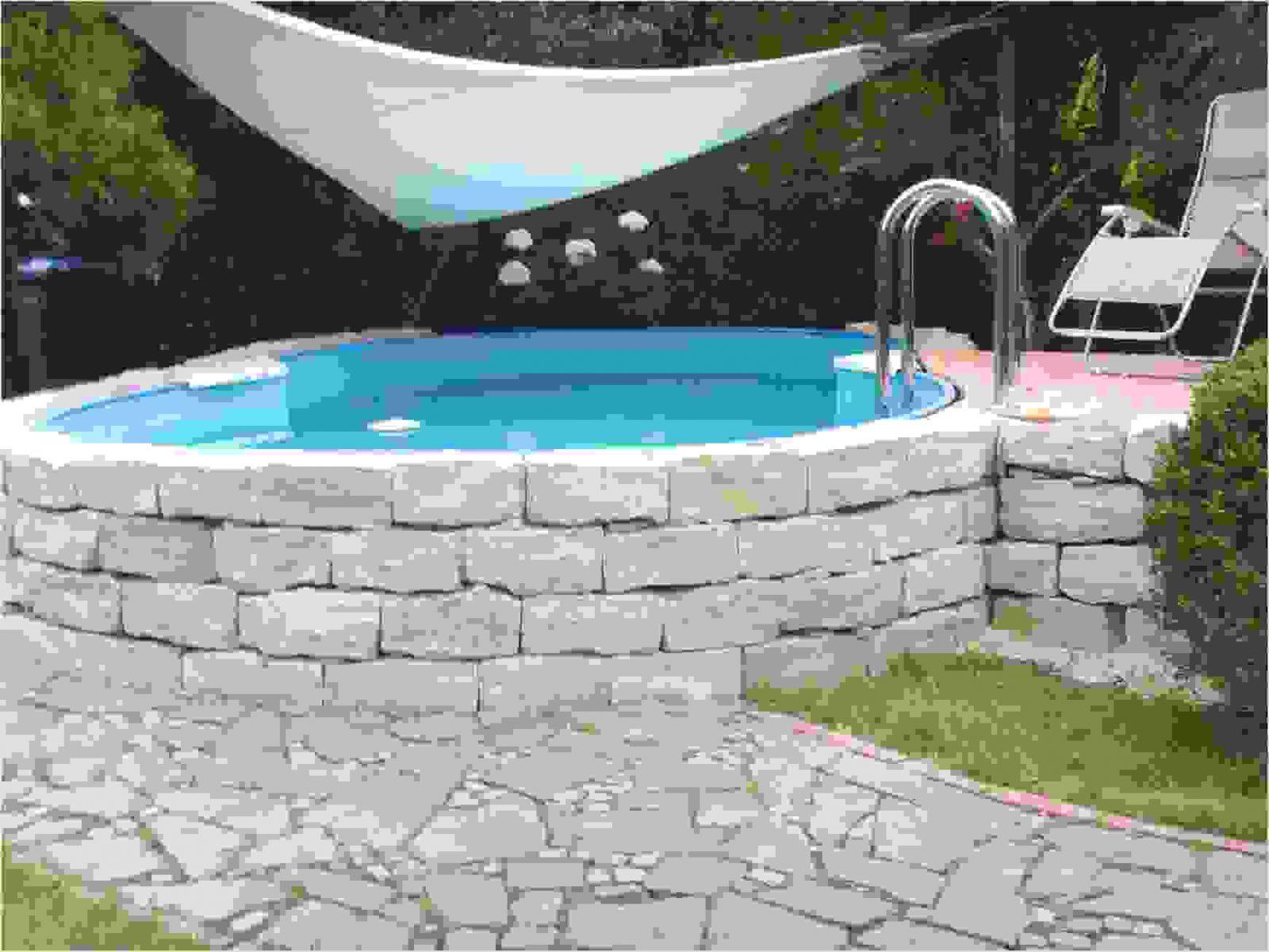Runder Pool Im Garten Designs  Almo Drg von Runder Pool Im Garten Bild