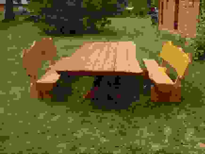 Rustikale Holzbank Selber Bauen Garten Und Bauen Ist Oberteil von Rustikale Gartenmöbel Selber Bauen Bild