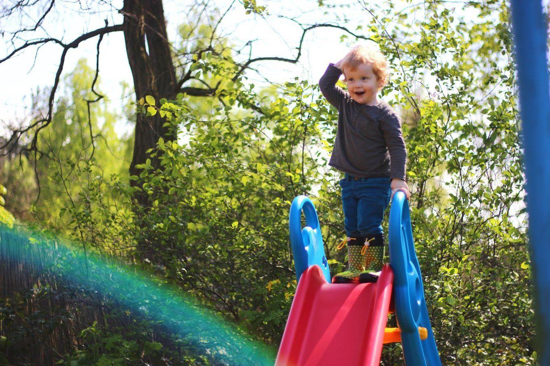 Rutschen Wie Ein Sausewind  Die Big Fun Slide Rutsche Zieht In Omas von Rutsche Big Fun Slide Bild