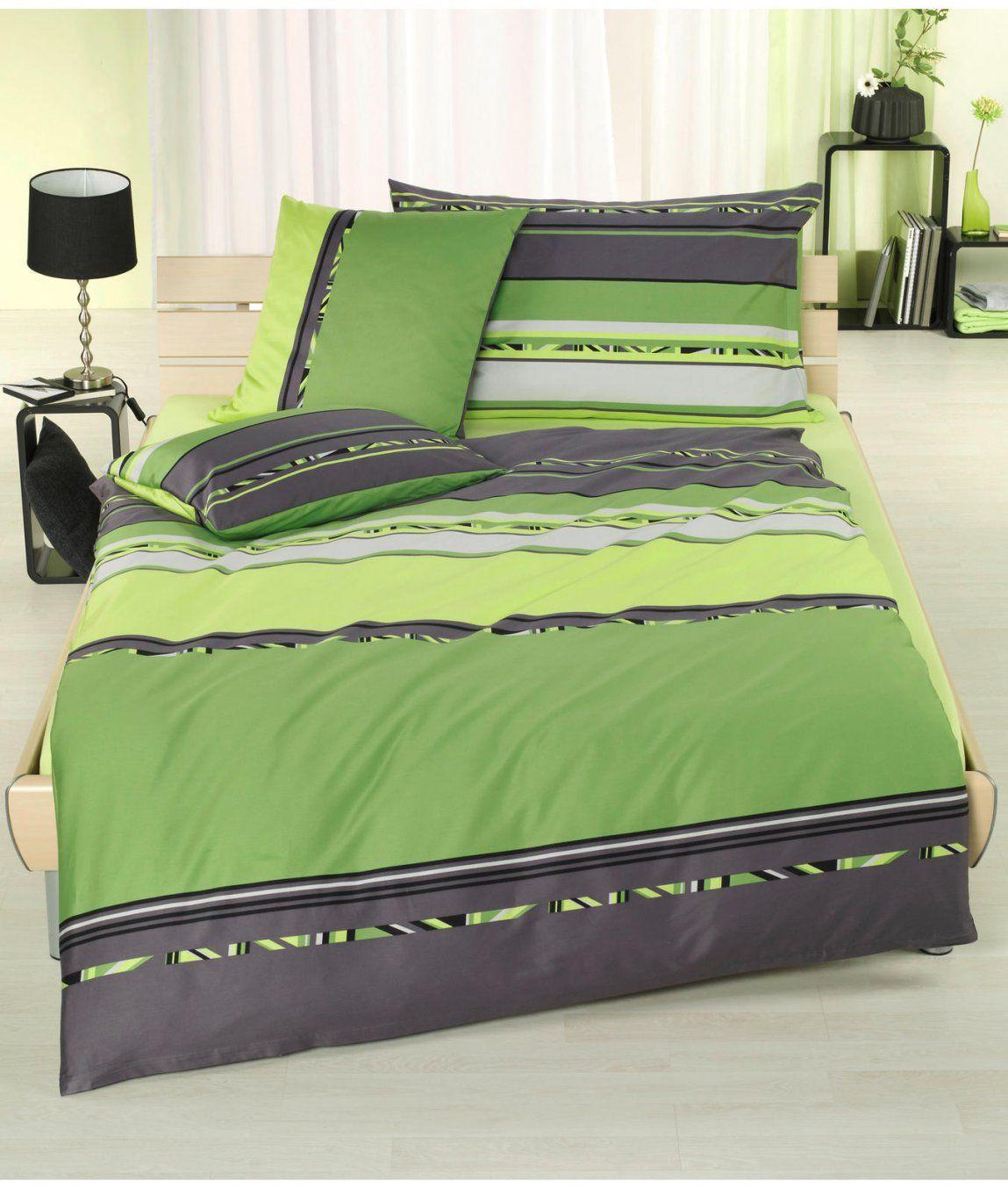 Satinbettgarnitur Essence Grün Kaufen  Angela Bruderer Onlineshop von Satin Bettwäsche Grün Photo