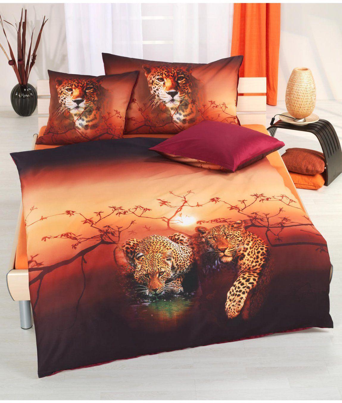 Satinbettwäsche Leopard Kaufen  Angela Bruderer Onlineshop von Bettwäsche Afrika Baumwolle Photo