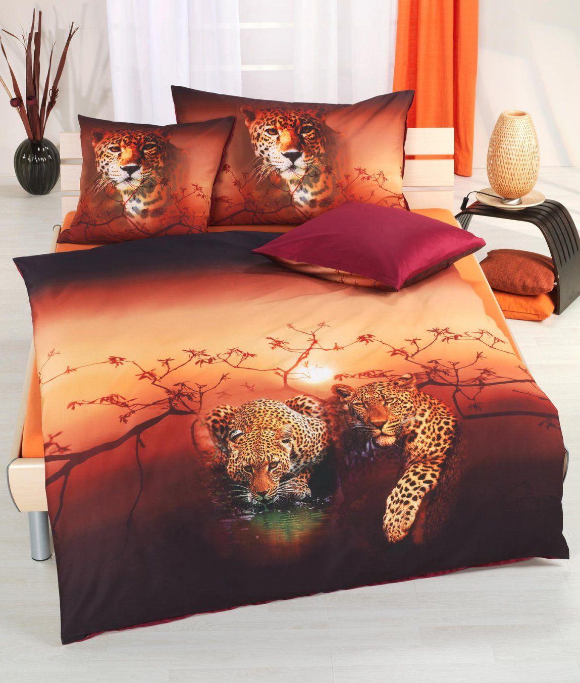 Satinbettwäsche Leopard Kaufen  Angela Bruderer Onlineshop von Bettwäsche Afrika Design Photo