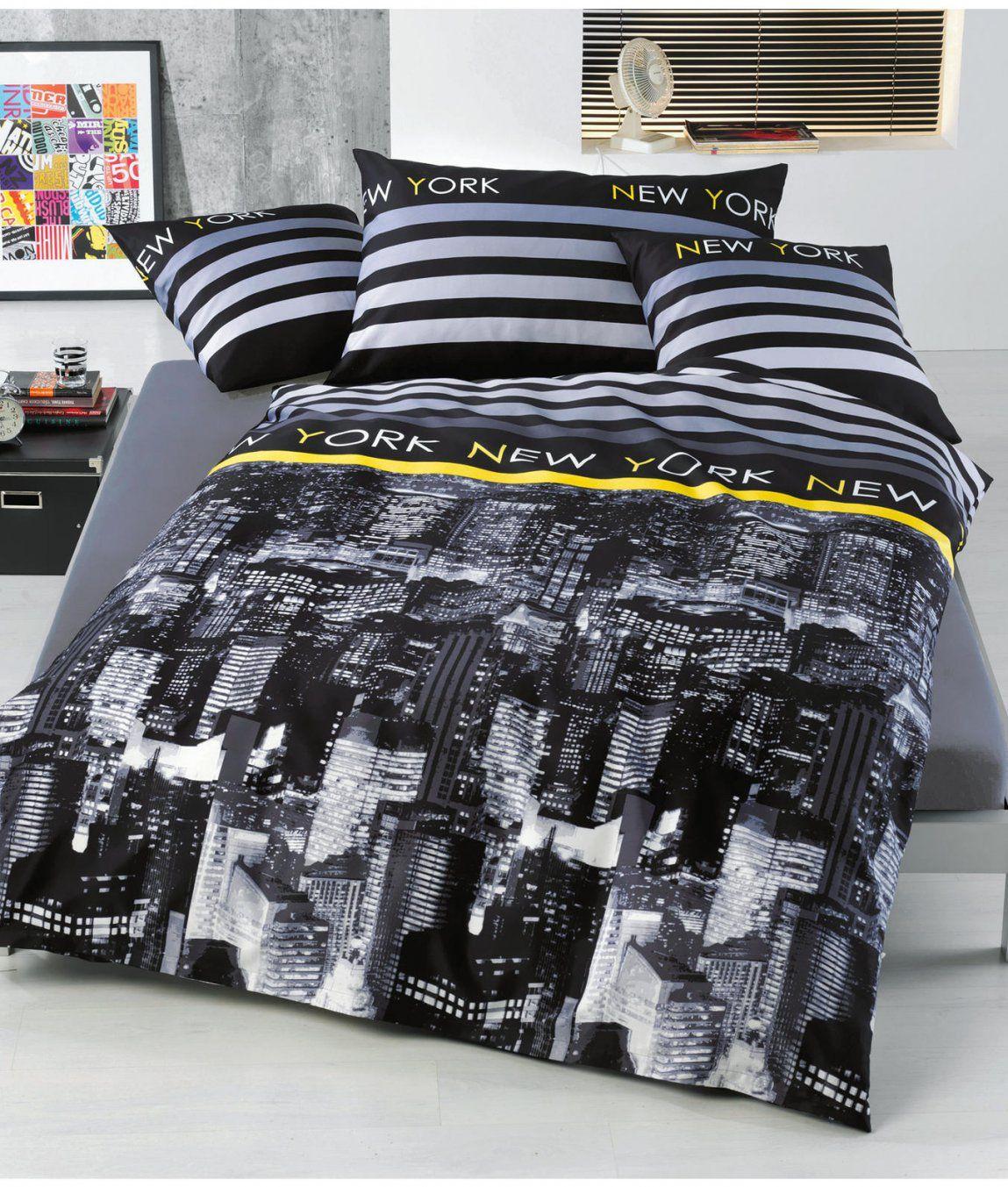 Satinbettwäsche New York Kaufen  Angela Bruderer Onlineshop von Coole Bettwäsche Für Teenager Bild