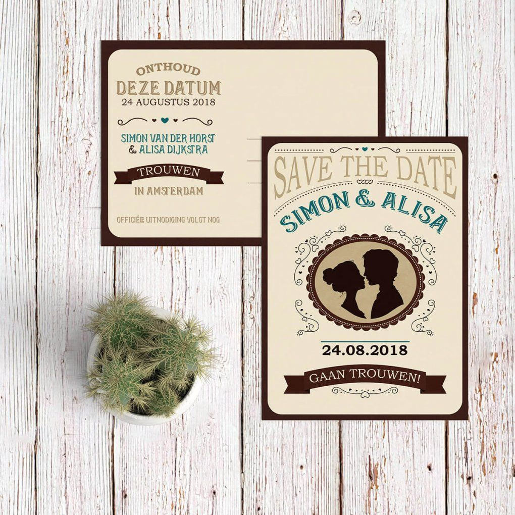 Save The Date Kaart Western  Moderne En Vintage Western Stijl Kaartje von Save The Date Originell Bild