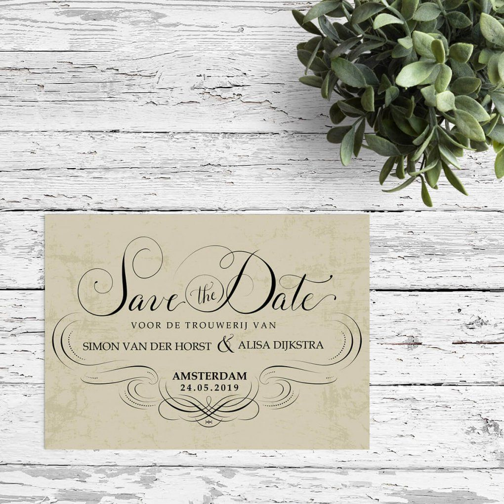 Save The Date Kaarten  Mooie Designs Zelf Aanpassen Snel Geleverd von Save The Date Originell Photo