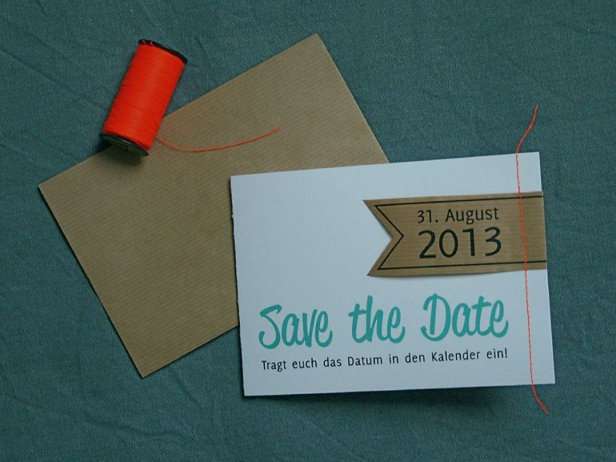 Super Save The Date Karten Selber Basteln Wunderbar Save The Date Karten #BU_93