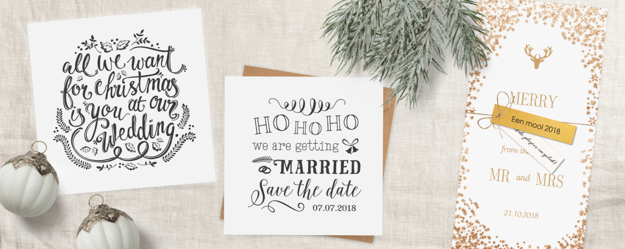 Save The Date Kerstkaarten von Save The Date Originell Bild