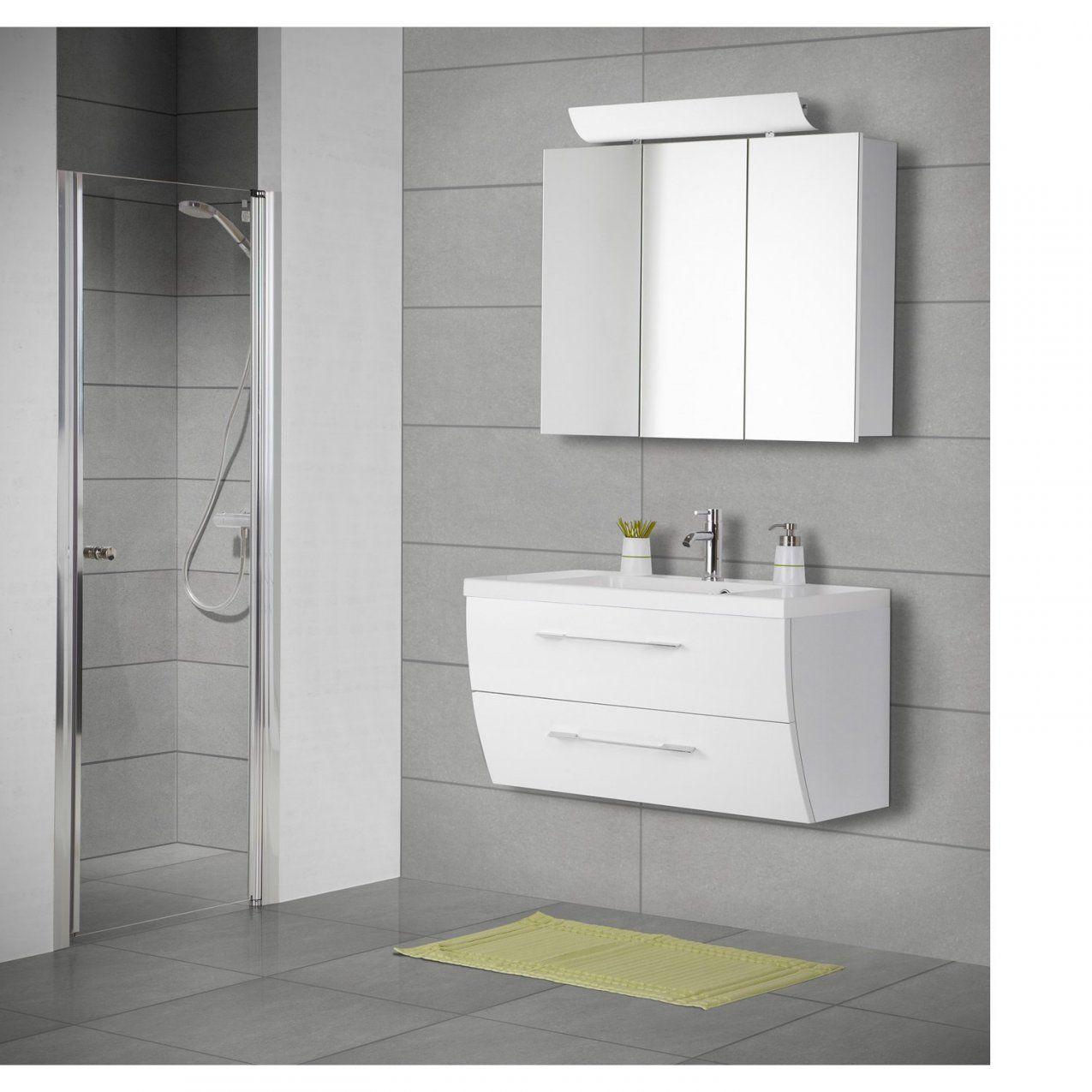 Scanbad Badmöbelset 120 Cm Mit Spiegelschrank Rumba Weiß Hochglanz von Badmöbel 90 Cm Breit Photo